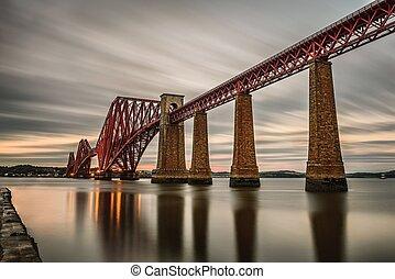 Forth Railway Bridge in Edinburgh, United Kingdom
