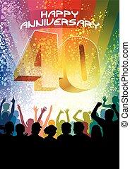 fortieth, anniversario
