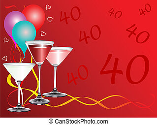 Fortieth Bithday Party - A fortieth birthday party...