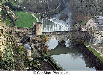 fortificaciones, medieval, luxemburgo