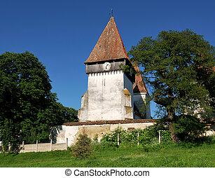 fortificado, iglesia, en, transylvania, merghindeal