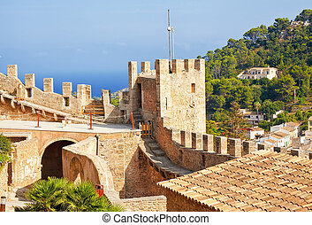 Fortification of Capdepera castle, Mallorca, Spain