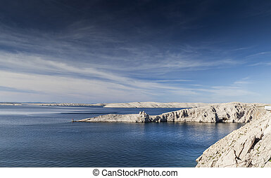 fortification - Amazing landscape coastline in Croatia with...