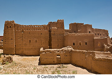 Fortified adobe Houses in the Kasbah of Ouarzazate, Morocco