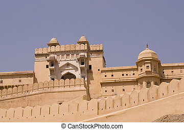 Fortified Entrance to Amber Fort - Imposing front entrance (...