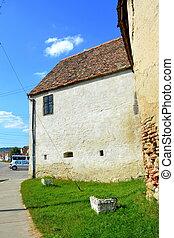 Fortified medieval church in Vineyard Valley, Transylvania, Romania