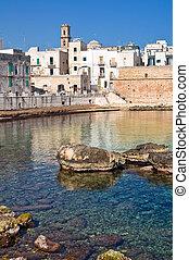 Fortified wall. Monopoli. Puglia. Italy.