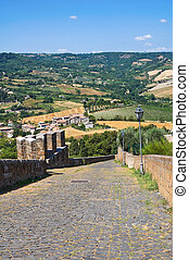 Fortified walls. Orvieto. Umbria. Italy.