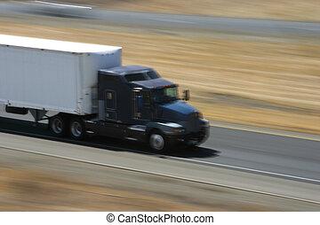 fortkörning, lastbil, 1