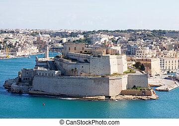 Fortness of Vittoriosa and Grand Harbour. Malta