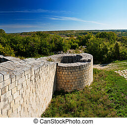 Fortress. A medieval fortress in Bulgaria - Madara