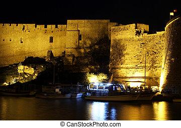 Fortress at night
