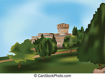 Fortress - Medieval castle - European Fortress