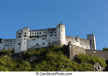 Fortress Hohensalzburg, beautiful medieval castle in Salzburg, Austria