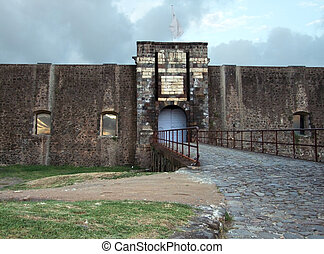 historic fortification at Guadeloupe (french overseas department)