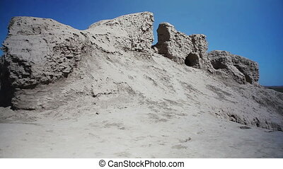 Fortress Kyzyl-Kala is located in the territory of Ancient...