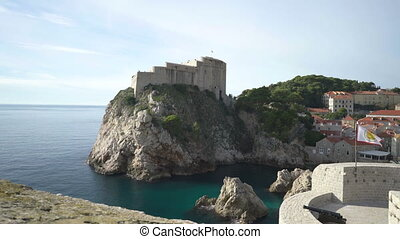 Fortress Lovrijenac in old city of Dubrovnik. - Fortress...