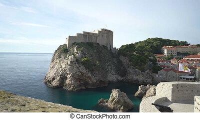 Fortress Lovrijenac in old city of Dubrovnik.
