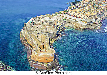 Fortress Maniace in Syracuse Sicily