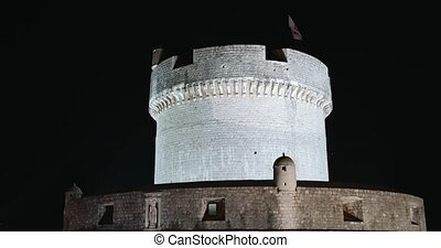 Fortress Minceta on top of the Dubrovnik city walls - ...