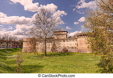 Fortress of Forlì, Emilia Romagna, Italy - castle of Forli,...