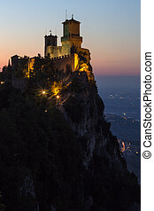 The fortress of Guaita on Mount Titano in San Marino. The Republic of San Marino is an enclaved microstate surrounded by Italy. San Marino claims to be the oldest sovereign state and constitutional republic in the world - founded on 3 September 301AD