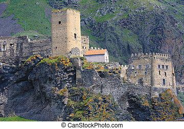 Fortress of Khertvisi near the cave city of Vardzia in Georgia (Caucasus)