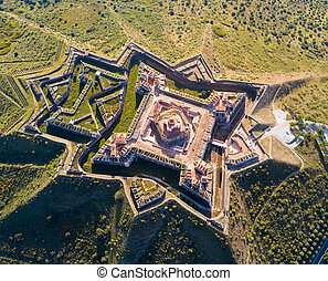 Fortress of Nossa Senhora da Graca, famous landmark in Elvas...
