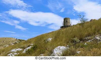 Fortress on a mountain ridge