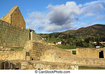 Fortress - Ruins of fortress in Ingapirca in Ecuador