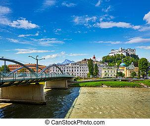 Fortress Salzburg in Austria medieval castle