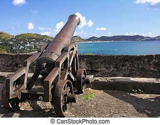 Fortress - Cannon in an old caribbean fortress
