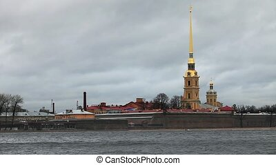 Fortress - HD1080: Peter and Paul Fortress on the Neva River...