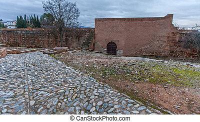 Fortress Wall Alhambra - Fortress wall, Alhambra, Granada, ...