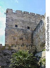 Fortress wall - Ancient fortress wall in jerusalem