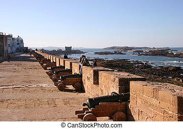 Fortress wall, Essaouira, Morocco