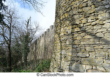Fortress Wall - Fortification wall in San Marino republic, ...