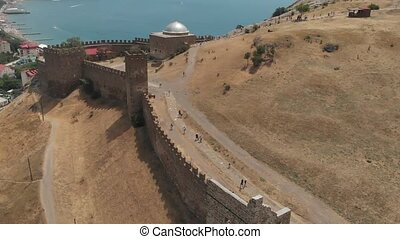 Fortress wall in Sudak - Old fortress ruins and walking...