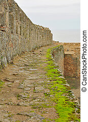 Fortress wall - The platform at the top of the fortress wall