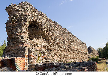 Fortress Wall - The Wall of the ancient roman fortress in ...