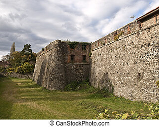 Fortress wall - This wall of the castle-fortress in Uzhhorod...
