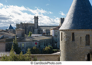 Fortress walls in Carcassonne France