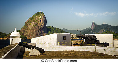 Fortress with Sugarloaf Mountain in the background,...