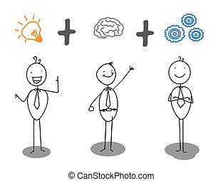 fortschritt, arbeit, klug, idee