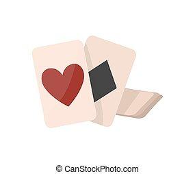 fortuna, aislado, narración, vector, tarjetas, icono