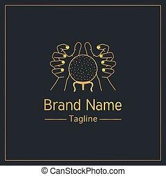 fortuna, diseño, dorado, elegante, narración, plantilla, logotipo