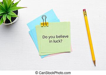 fortuna, sobre, creencia, pregunta, suerte, filosófico