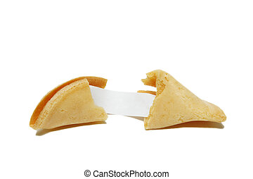 Fortune - A shot of fortune cookie showing a blank message
