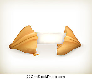 Fortune cookie, vector banner