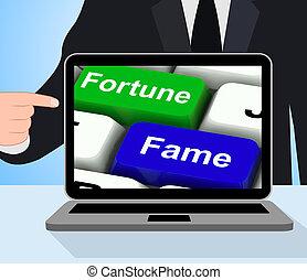 Fortune Fame Keys Displays Wealth Or Publicity - Fortune...